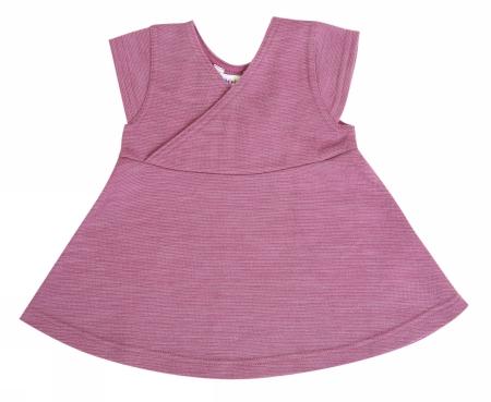 Babypige kjole i rosa uld