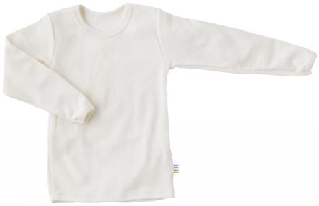 Bluse i råhvid uld-bomuld